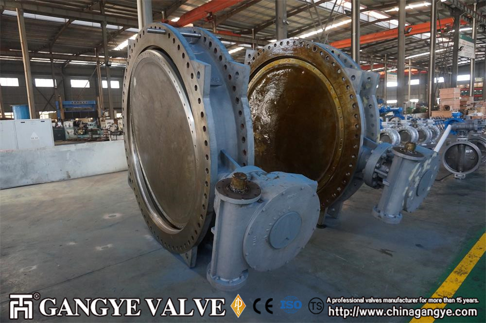 Double Eccentric Wafer Butterfly Valve , short pattern, 150PSI, 84 (2)