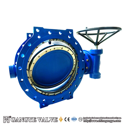 Double-eccentric Flanged Type Rubber Sealing Butterfly Valves (2)