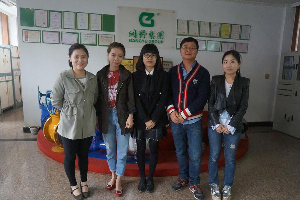 Gangye Group's exporting department sales team