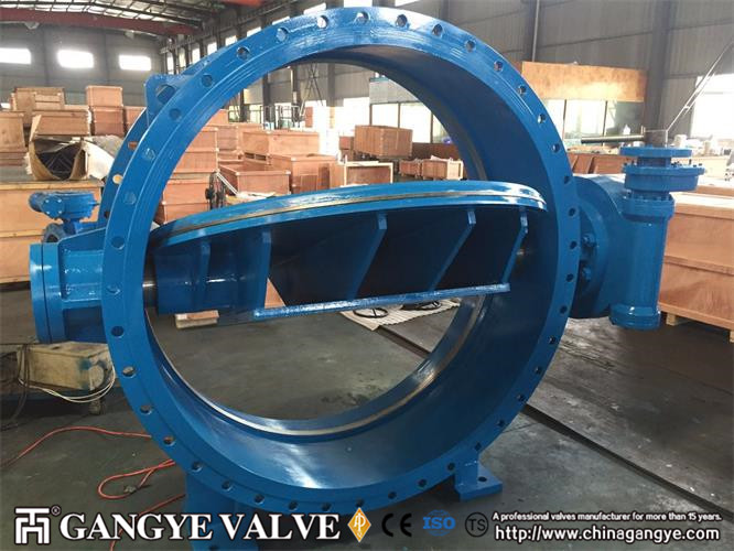 DN1500 Double-eccentric Flanged Type  Metal Sealing Butterfly Valves (1)