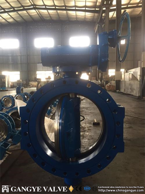 Fully metal seal triple offset flanged butterfly valve in Ductile iron, PN35 DN600 Gangye valve