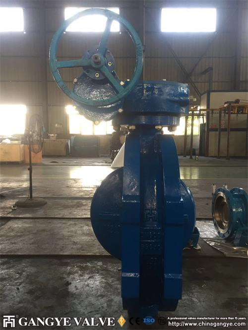fully-metal-seal-triple-offset-flanged-butterfly-valve-in-ductile-iron-pn35-dn600-8gangye-valve